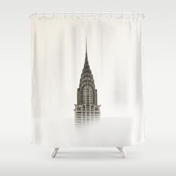 Chrysler Building - NYC Shower Curtain by Nicklas Gustafsson