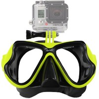 GoPro® Scuba Diving Mask compatible w/ GoPro® Hero 1, 2, 3, 3+, Black, Silver and White editions