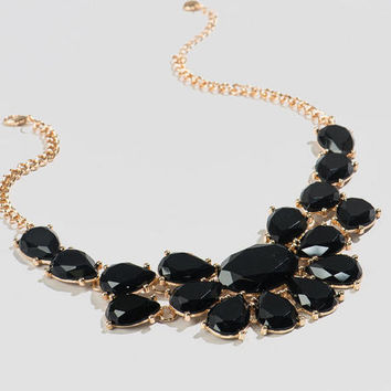 Grove Statement Necklace In Black