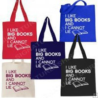 I Like Big Books and I Cannot Lie Tote bag 9.95 I Like Big Books and I Cannot Lie Tote bag 9.95 [ILBBTOTE] - $9.95 : Signature T-Shirts, Funny T-Shirts, Vintage Cool Graphic Tee Shirts, Retro Logo, Twilight Shirts