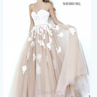 Strapless Sweetheart Prom Ball Gown By Sherri Hill 11200