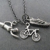 SWIM BIKE RUN TRIATHALON Necklace - Choose your Style!