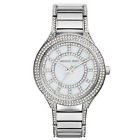 Kerry Pavé-Embellished Silver-Tone Watch