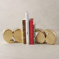 Quotation Marks Bookends by Anthropologie Gold Set Of 2 Bookends