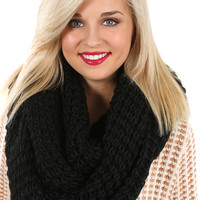 Dark As Winter Scarf: Black - One