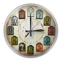 The numbered blocks round wallclocks from Zazzle.com