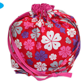 NEW Shawl Project Bag | Hawaii Knitting Bag | Hawaiian Flowers Knitting Pouch | Size Medium