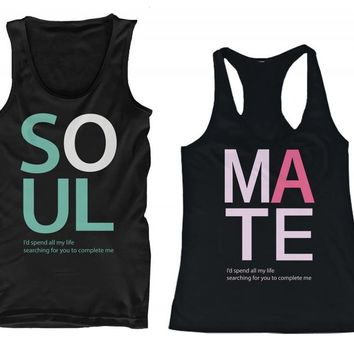 365 In Love SOUL MATE His and Her Matching Tank Tops for Couples