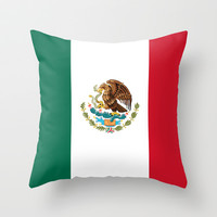 The National flag of Mexico (Officially the Flag of the United Mexican States)  Throw Pillow by LonestarDesigns2020 - Flags Designs +