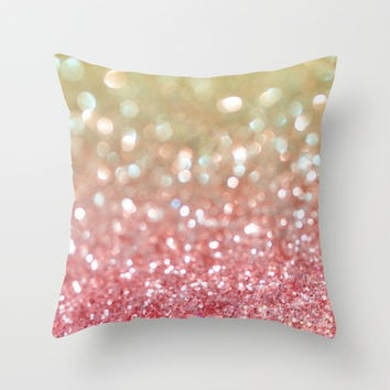 Champagne Tango Throw Pillow by Lisa Argyropoulos