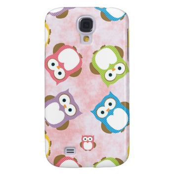 Colorful Owls - Green Blue Purple Yellow