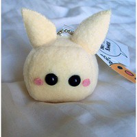 Lemon Baby Tofu Bunny Plush Keychain by quacked on Etsy
