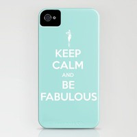 Keep Calm and be Fabulous iPhone Case by Retro Love Photography | Society6