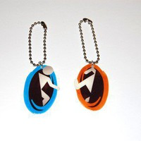 Portal Keychain / Phone charm by knil on Etsy