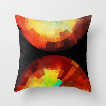 Time Throw Pillow by SensualPatterns