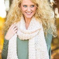 Snowbound Sweetie Scarf-Oatmeal