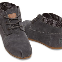 DARK GREY TRIM SUEDE WOMEN'S TRIBAL BOOTS