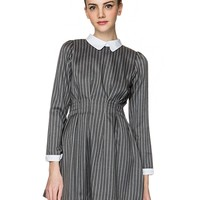 Amy Grey Stripe Dress