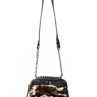 Camouflage Fur Shoulder Bag