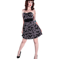 Bat Attack Dress - Grey :: VampireFreaks Store :: Gothic Clothing, Cyber-goth, punk, metal, alternative, rave, freak fashions