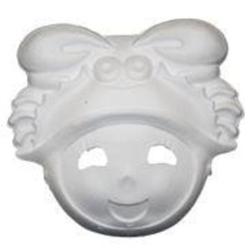 Blank White Paper Mache Full Face Masquerade Mask Paint Your Own Mask