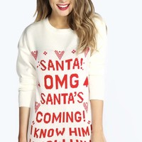 Emmy Santa's Coming Christmas Jumper