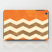 Orange, Brown and Cream Chevron iPad Case by Kat Mun | Society6