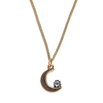 With Love From CA Envelope Moon Star Necklace - Womens Jewelry - Gold - One