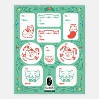 Christmas Cat Gift Tags