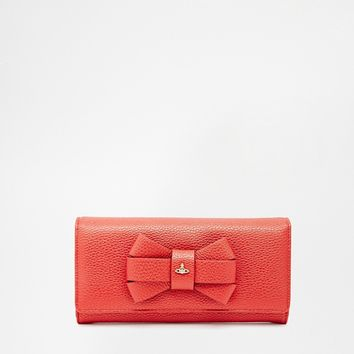 Vivienne Westwood Leather Purse with Bow