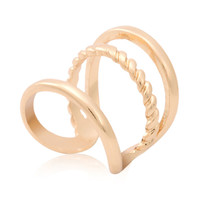 Golden Wrapped Ring - Choies.com