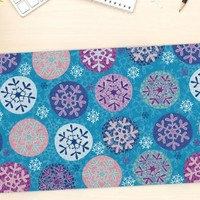 "KESS InHouse Julia Grifol ""Floral Winter"" Office Desk Mat, Blotter, Pad, Mousepad, 13 x 26-Inches"