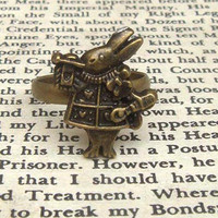 Rabbit Adjustable Brass Ring