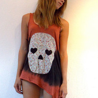 Tie Dye Skull Top