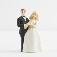 vintage Lefton Wedding cake topper