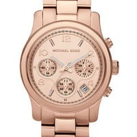 Women's Michael Kors 'Runway' Rose Gold Watch, 37mm