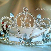 Sweet 16 Tiara Rhinestone Tiara Crown Headband Tiara Headband Party Birthday Crown Birthday Tiara Sweet 16 Tiara