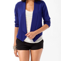 Woven Shawl Collar Cardigan
