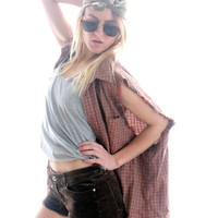 Over sized Grunge Flannelette Shirt