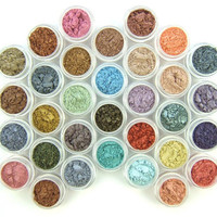 Eyeshadow Mineral Makeup - One of Each New Color - 32 Eye shadows - Eyeshadow/Eyeliner - Hand Crafted and All Natural