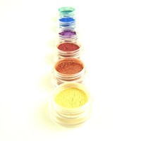 Vegan Eye Shadow Set - Rainbow Brights - Handmade Eye Shadow Palette - 6 Eye Colors - Eyeshadow/Eyeliner
