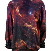 Mr. Gugu & Miss Go — Purple nebula sweater