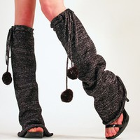 Pom-Poms! Leg Warmers - Arm &amp; Leg Warmers - Socks &amp; Legwear