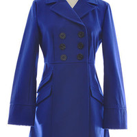 Navy Wool Pea Coat by Tulle Clothing