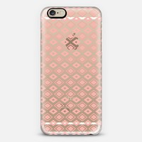Coral Diamonds (transparent) iPhone 6 case by Lisa Argyropoulos | Casetify