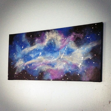 Galaxy | Out of this World Nebula | Acrylic Canvas Painting