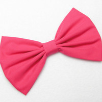 Magenta Hair Bow Clip hot Pink Bow Clip Magenta Clip Magenta Bow Victorian Bows for women Teen Bows Pink Fabric Bow hairbow hairbows bows