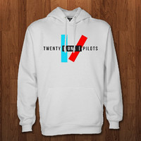Twenty one pilots Hoodie for size s-3xl, for color black, white, gray, and red
