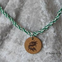 Dragon charm on hemp choker
