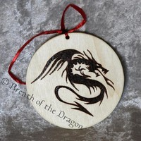 Tribal Dragon large round ornament